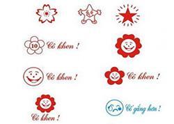 Mẫu khắc dấu logo tiểu học