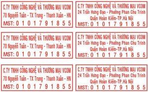 Dịch vụ khắc dấu mã số thuế tại An Khánh