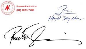 Mẫu khắc dấu chữ ký