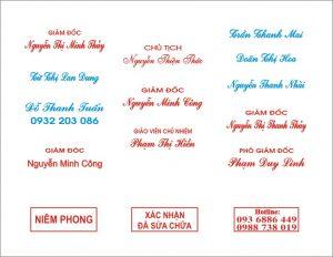 Làm con dấu tên nhanh, chất lượng tại An Khánh